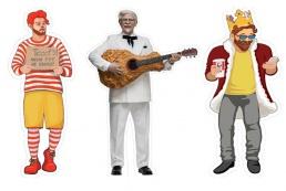Полковник Сандерс, клоун и король обеспечат социальную дистанцию в KFC