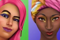 MAC сделал макияж персонажам The Sims 4