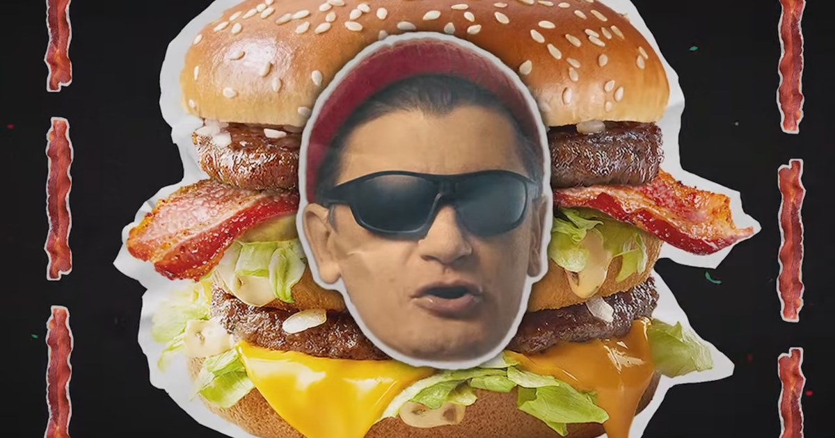 «Макдоналдс» удвоил Гудкова в рекламе Биг Мака с беконом