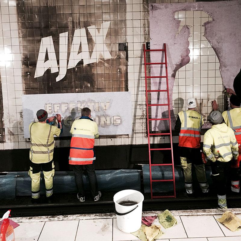 В Швеции использовали замену билбордов для рекламной чистки пустых стен