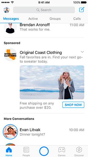 Маркетинг и коммуникации - Реклама в Messenger стала доступна во всем мире