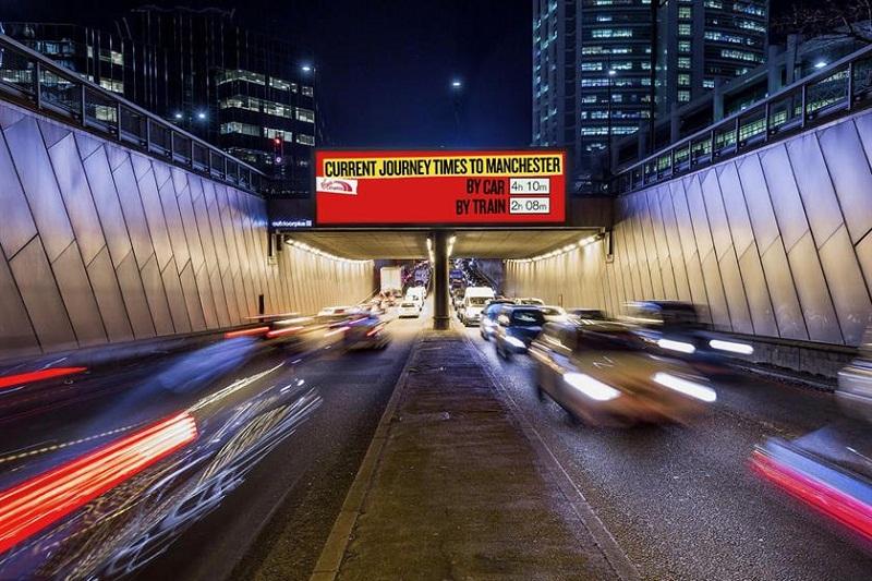 Наружная реклама железнодорожников будет дразнить автомобилистов в пробках