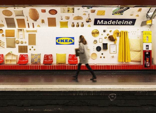 IKEA превратила станцию парижского метро в шоурум