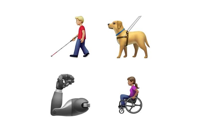 Собака-поводырь, чеснок и ленивец — новые смайлики от Apple