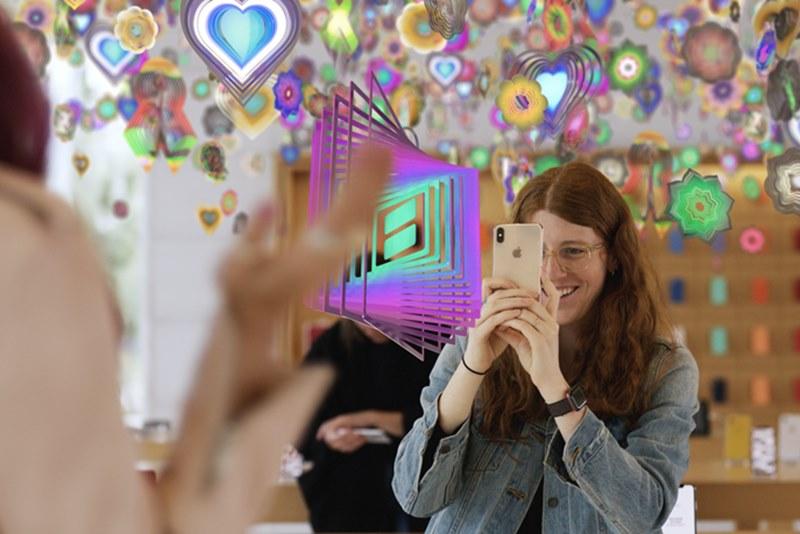 Apple проведет выставки в своих магазинах по всему миру с помощью технологий дополненной реальности