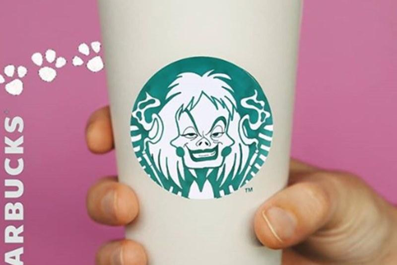 Персонажи Disney появились на логотипе Starbucks в работах австрийской художницы
