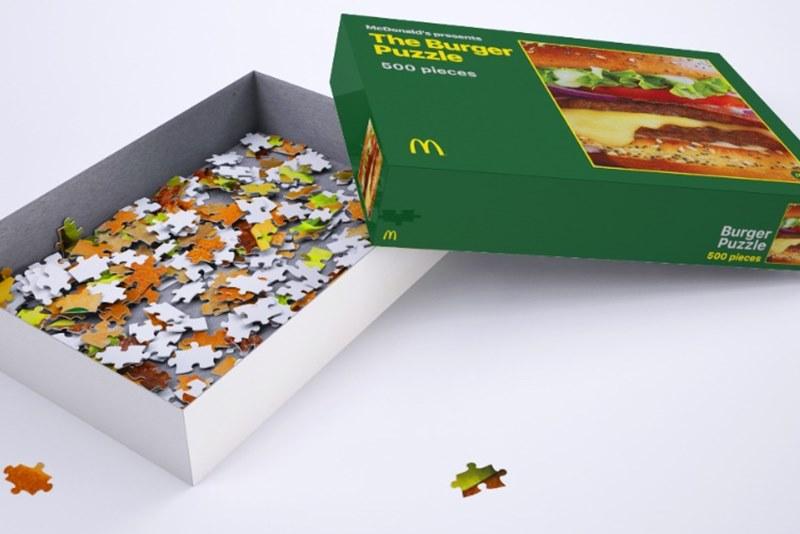 McDonald's выпустил пазл с бургером